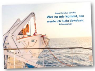 Faltkarte Jahreslosung 2022: Startbereites Rettungsboot