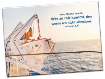 Kühlschrankmagnet Jahreslosung 2022: Startbereites Rettungsboot