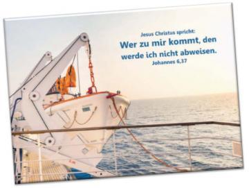 Leinwanddruck Jahreslosung 2022: Startbereites Rettungsboot