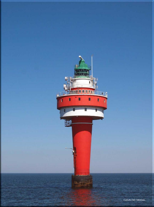 Leinwanddruck: Leuchtturm Alte Weser - Hochformat