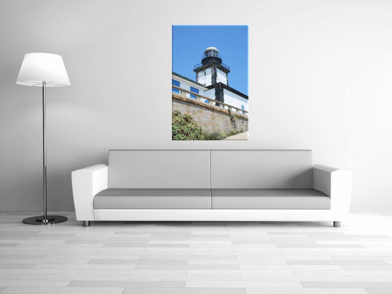 Leinwanddruck: Leuchtturm La Revellata III, Hochformat