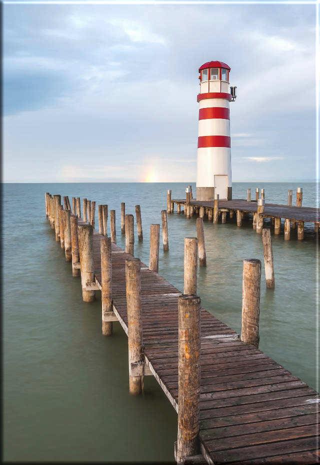 Leinwanddruck: Leuchtturm Podersdorf - Neusiedler See