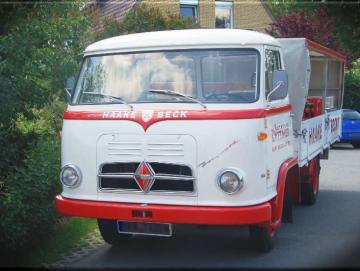 Leinwanddruck Oldtimer Lastwagen Borgward B 611