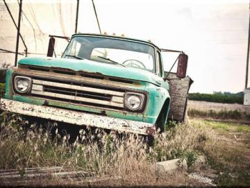 Leinwanddruck: Pick-up Oldtimer