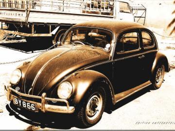 Leinwanddruck: VW Käfer Export - Pop-Art