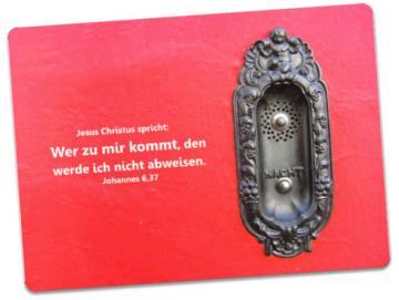 Postkarte Jahreslosung 2022: Notdienstklingel einer Apotheke
