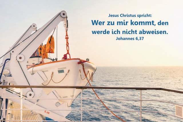 Karten Jahreslosung 2022 - Rettungsboot